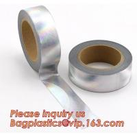 Buy cheap Foil Washi Tape Holographic Gold Laser Decorative Reflective Customized product