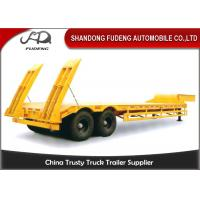 Buy cheap Double axles low bed truck semi-trailer low flatbed trailer spring suspension product