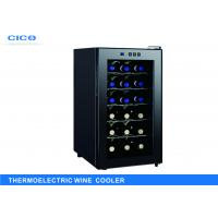 Freestanding 18 Bottle Thermoelectric Wine Cooler LED Temp Control