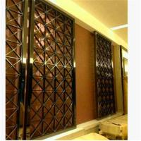 Buy cheap decorative metal screen,304 stainless steel panel screen with bronze hairline plating product
