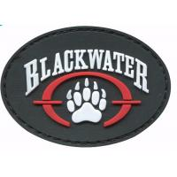 Buy cheap Colorful Sticky Hook And Loop Patches , Novelty Pvc Rubber Military Patches For Clothing product