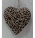 Buy cheap washing grey wicker heart product
