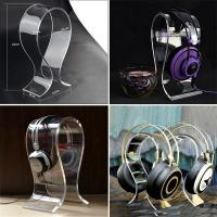China Wholesale Desktop Black Acrylic Earphone / Headphone / Headset Display Holder on sale