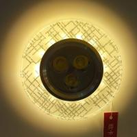 Home decorative glass downlight with led strip high power