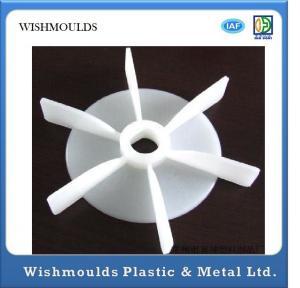 China Customized Electronic Plastic Parts Fan Blade For Electric / Plastic Fan Blade Mould on sale