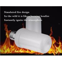 Buy cheap LED Flame Bulb Flash Lighting Mode E27 B22 4.5W CE ROHS dimmable 1400K yellow color PC SMD2835 chip product