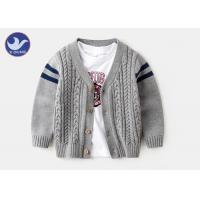Buy cheap Preteens Boys Cardigan Sweaters Cable Knit Stripes Long Sleeves Buttons Closure from wholesalers