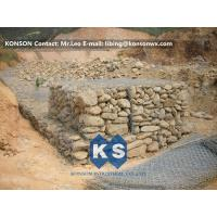 Buy cheap Zinc Wire Coated Hexagonal Wire Mesh Gabion Rock Boxes for Controlling Flood product