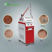 Buy cheap Korea imported 1064 / 532nm 1200W  Nd Yag laser tatoo removal machine / pigmentation removal 6ns Pulse Width product