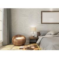 Buy cheap Embossed Leaf Pattern Modern Removable Wallpaper for Bedroom With Vinyl Material product