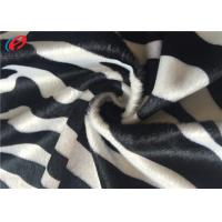 China Zebra Printed Velboa Plain Dyed Velour Striped Velvet Upholstery Fabric For Home Textile on sale