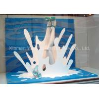 Buy cheap White Color PVC Carve Wave Crafts , Store Window Decorations Spray Color Finish product