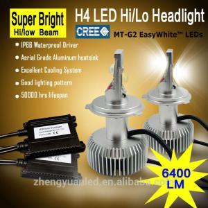 Buy cheap 6400lm CREE H4 high low beam led headlight kit auto headlight bulbs product