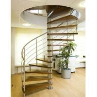 Buy cheap Stainless steel round stairs wood stairway product