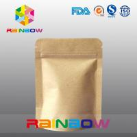 Stand Up Kraft Paper Bags for Candy Packaging with Zipper and Window