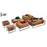 Buy cheap Functional Buffet Food Display Stands For Seafood , Vegetables , Fruit from wholesalers