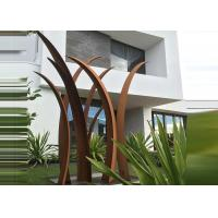 Buy cheap Residential Garden Landscape Reed Design Corten Steel Sculpture from wholesalers