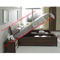 Buy cheap Lift mechanism storage bed in classic wooden bedroom furniture product