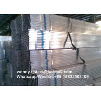 China ASTM A53 SHS hot dip galvanized steel pipe/tube Q195 TIANJIN Original on sale
