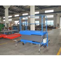 1000kg Mobile Scissor Lift Platform with Manual Pulling Handle 1T Hydraulic Lift