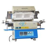 China Laboratory 1200C split type two heating zones tube furnace with quartz tube heated by resistance wire on sale