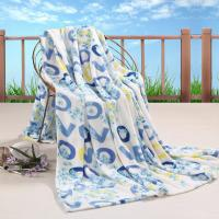 Buy cheap All Season Printed Coral Custom Fleece Blankets , 100% Polyester Blanket for Adults product