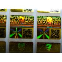 China 3D Strong adhesive Hologram Security Seal Sticker with Custom Logo on sale