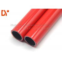 Buy cheap Red Color Plastic Coated Pipe Anti Corrossion 28mm Diameter Long Service Life product
