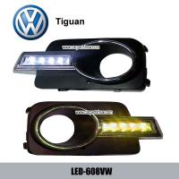 China Volkswagen VW Tiguan DRL LED Daytime Running Lights turn light steering lamps LED-608VW wholesale