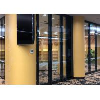 Buy cheap Soundproof Movable Glass Wall With Top&bottom Retractable Seal For Library and from wholesalers