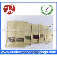 Buy cheap Gravure Printed Stand Up Pouch Food Packaging Kraft Window Paper product