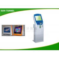 China Intelligent Cash Bill Payment Kiosk With Thermal Printer Bar Code Reader on sale