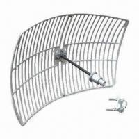 Buy cheap Wireless Grid Antenna with 30dB Gain for N Jack, 50Ω Impedance, and 30dBi Gain product
