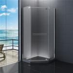 China 900x900 Diamond  Bathroom Shower Enclosure Clear Glass 1900 Height wholesale
