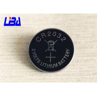 Buy cheap Standard 3.0g Lithium Cell Battery , 240mAh Cr2032 3v Battery  For Camera product