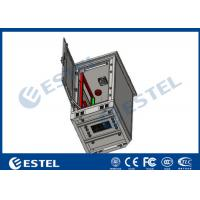 Buy cheap Galvanized Steel Material Outdoor Telecom Cabinet 24U Single Wall With Fan from wholesalers