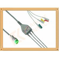 IEC Bruker 12 Pin ECG Monitor Cable / Grabber 3 Lead Ecg Cable