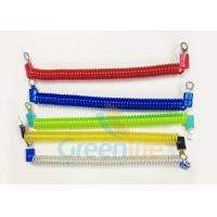 Buy cheap Coloured Steel Wire Tether Coil Cords With Eyelet Terminals & Protectors MOQ 200PCS from wholesalers