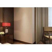 Buy cheap Non - woven Pure Beige Modern Removable Wallpaper for Bedroom , Hotel product