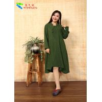 Buy cheap Cotton Chinese Style  Long Sleeve Maxi Dress product