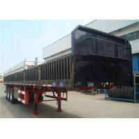 Buy cheap 3 Axles 12 Wheels 13m Side Wall Semi Trailer High Tensile Low Alloy product