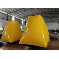 Buy cheap Outdoor Water Park Inflatable Paintball Bunkers 2 X 2 X 2.5m Enviroment - Friendly product