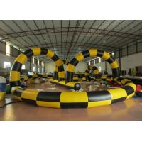 Buy cheap Zorb Ball Inflatable Quad Track , Customized Kids Toy Cars Blow Up Race Track product