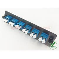 China Single Mode 12 Port LGX Optic Fiber Adapter Plate With LC Square Snap Mounting Adapter wholesale