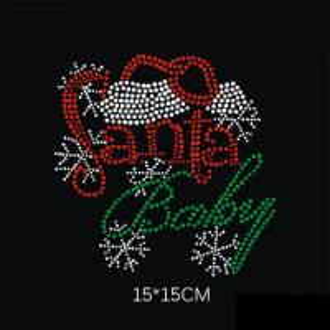 Buy cheap Christmas hot fix rhinestone motif;bling rhinestone motif hot fix;rhinestone design China product
