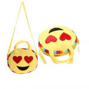 China plush emoji wallet, mini coin purse,custom emoji plush soft embroidered emoji wallet handbag on sale