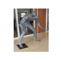 China Gray Adults Sports Plus Size Retail Display Mannequins Fiberglass For Shopping Mall on sale