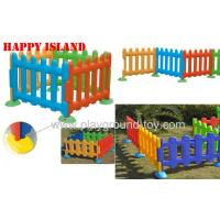 China Happy Island Playground Kids Toys Of Children Plastic Fence 4 Color Available on sale