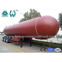 Buy cheap Manual Tri Axle 56CBM Aluminium Alloy LPG Tank Trailer Big Capacity product