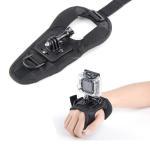 Black Action Camera Wrist Mount with Glove Wrist Strap Gopro Accessories Kit
